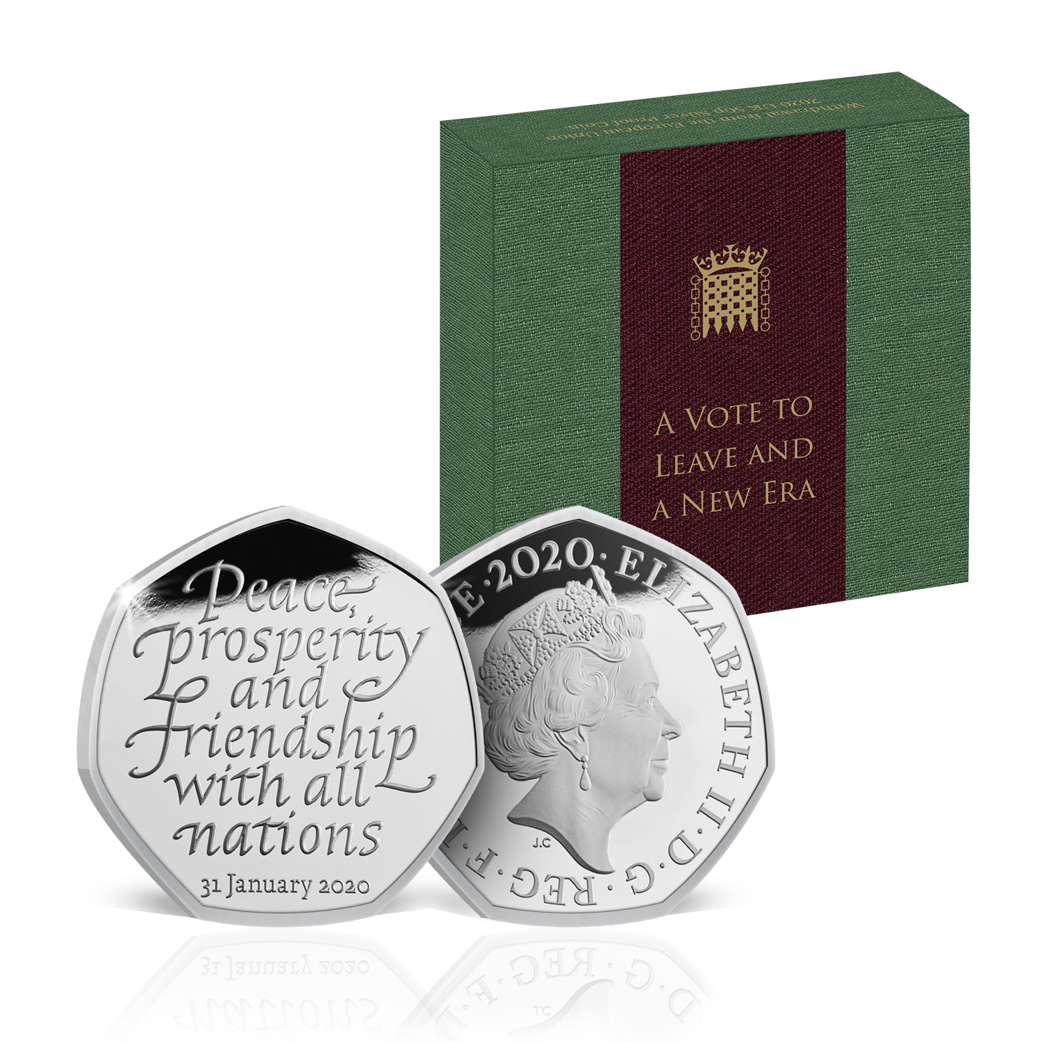 Brexit 50p Coin Official Royal Mint Limited Edition Brand New Solid Silver Proof 3